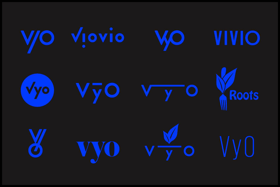 logo and naming concepts for a vegan raw cuisine restaurant